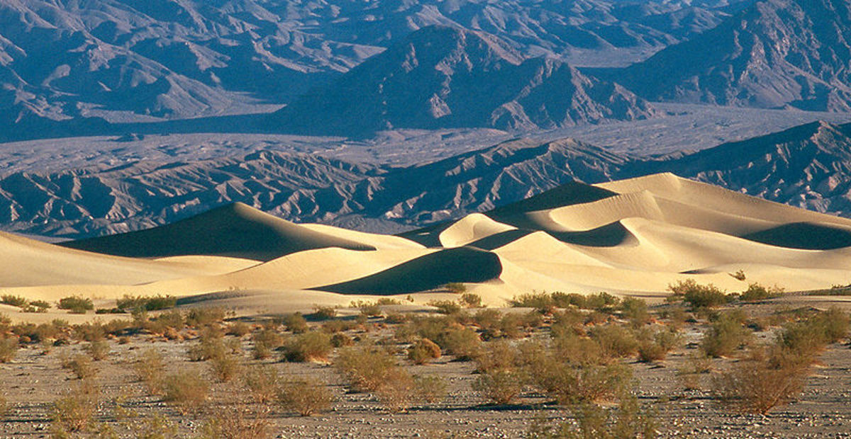 Mesquite sand dunes at Death Valley National Park.