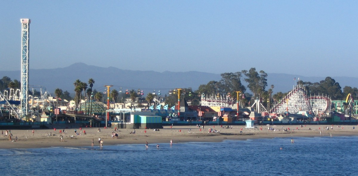 Santa Cruz's famous beach boardwalk.