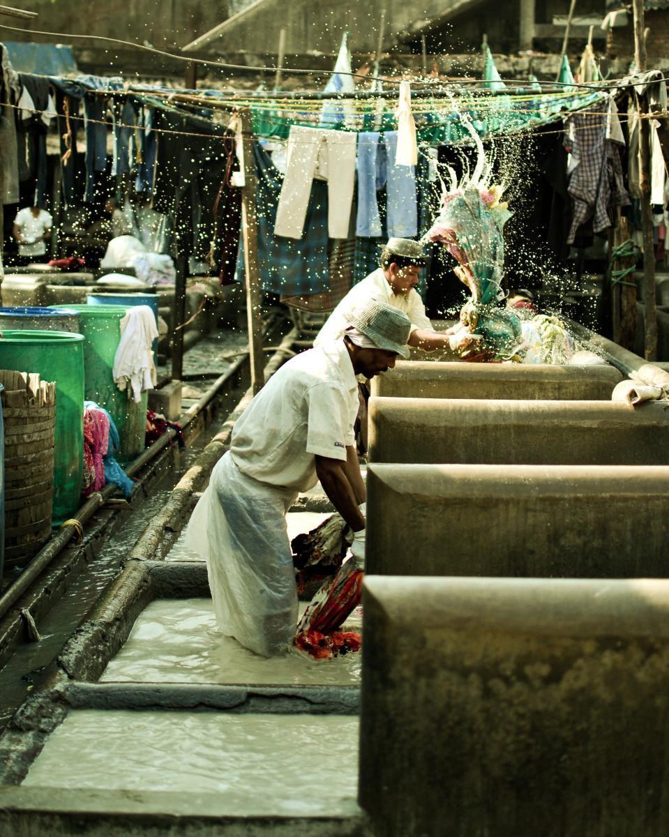 Two dhobiwala hard at work.