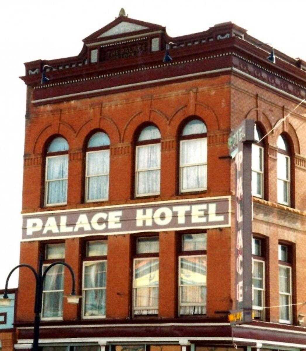 Palace Hotel building in Cripple Creek