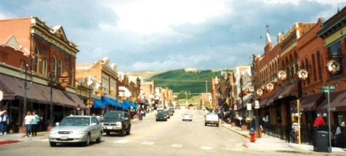 Street scene in Cripple Creek, Colorado