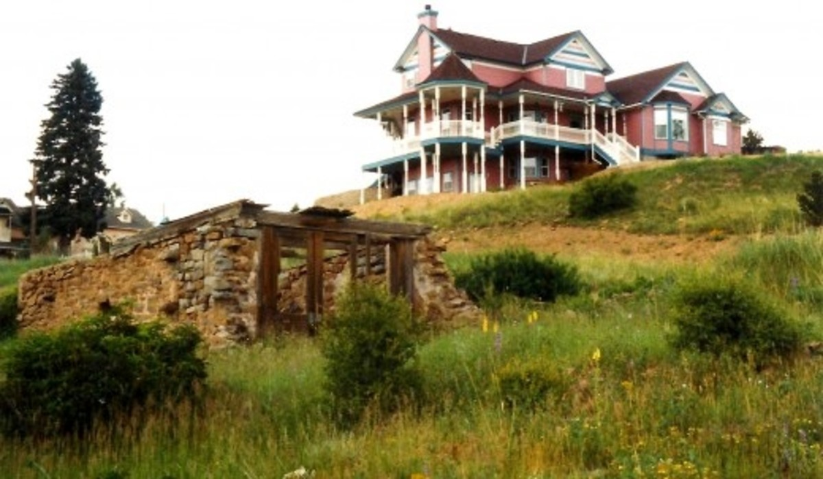 Fancy house up on a hill overlooking most of Cripple Creek