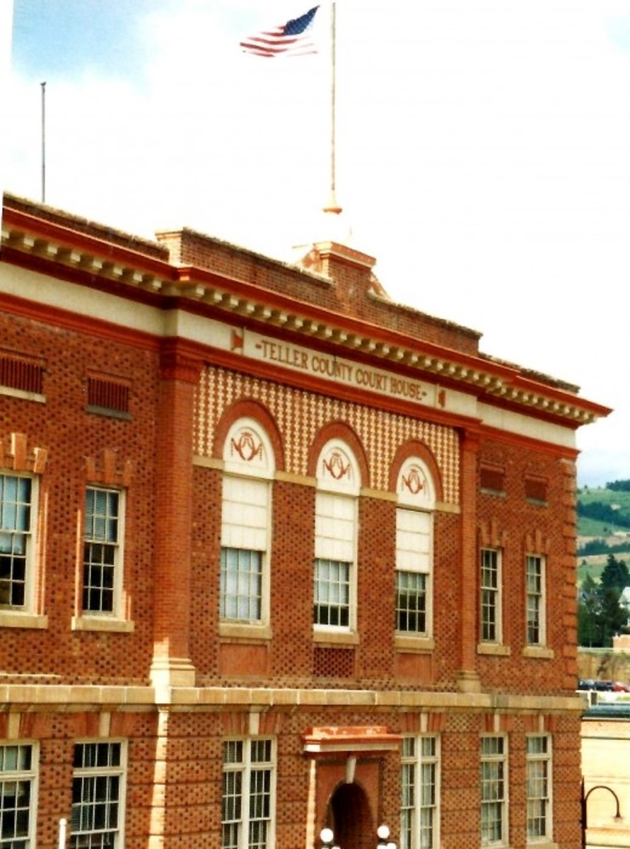Teller County Court House building in Cripple Creek