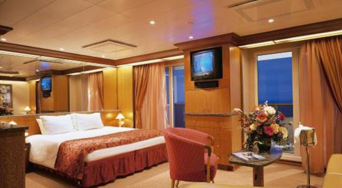 Large stateroom with balcony