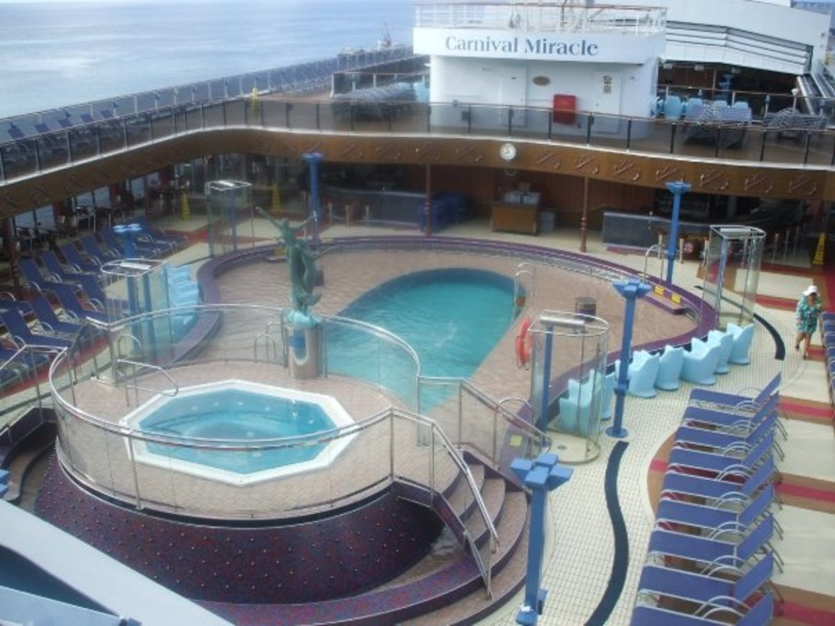 Carnival family pool deck