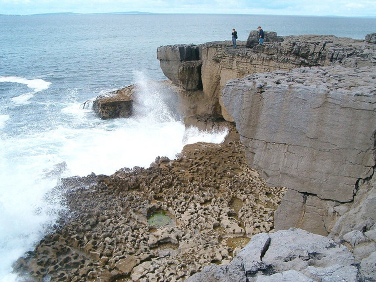 The Ailladie sea wall in Ireland is a popular locale for many rock climbers.