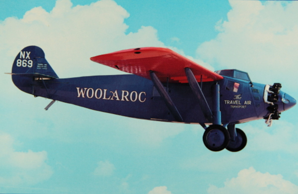 The Woolaroc Plane in Flight