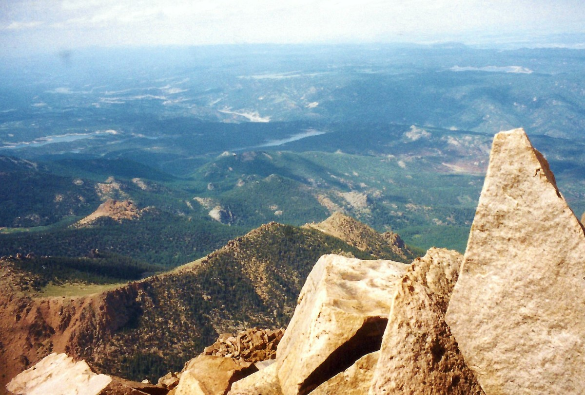 View from the top of Pikes Peak.