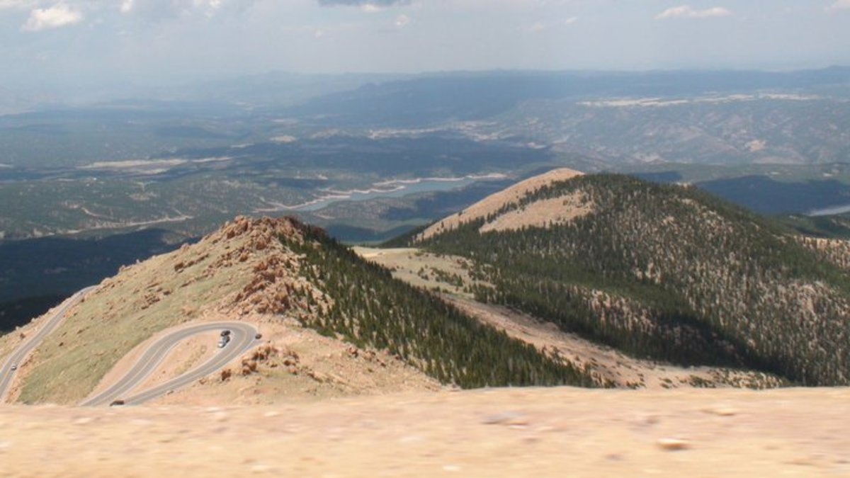 Pikes Peak highway from about 13,000 feet