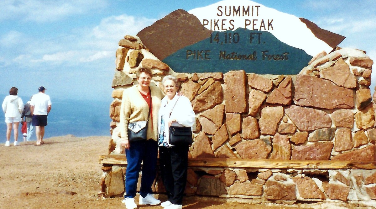 Summit of Pikes Peak with my mother.