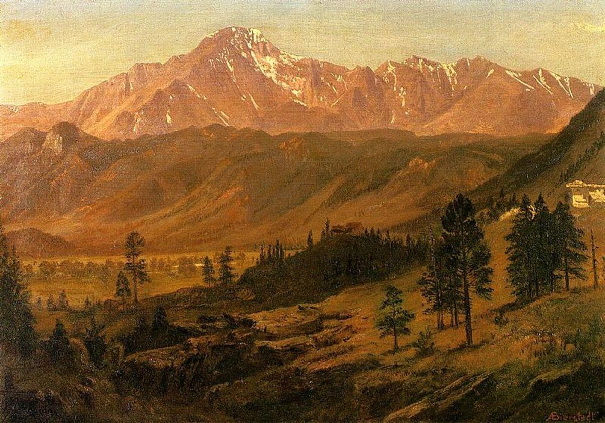 Bierstadt painting of Pikes Peak