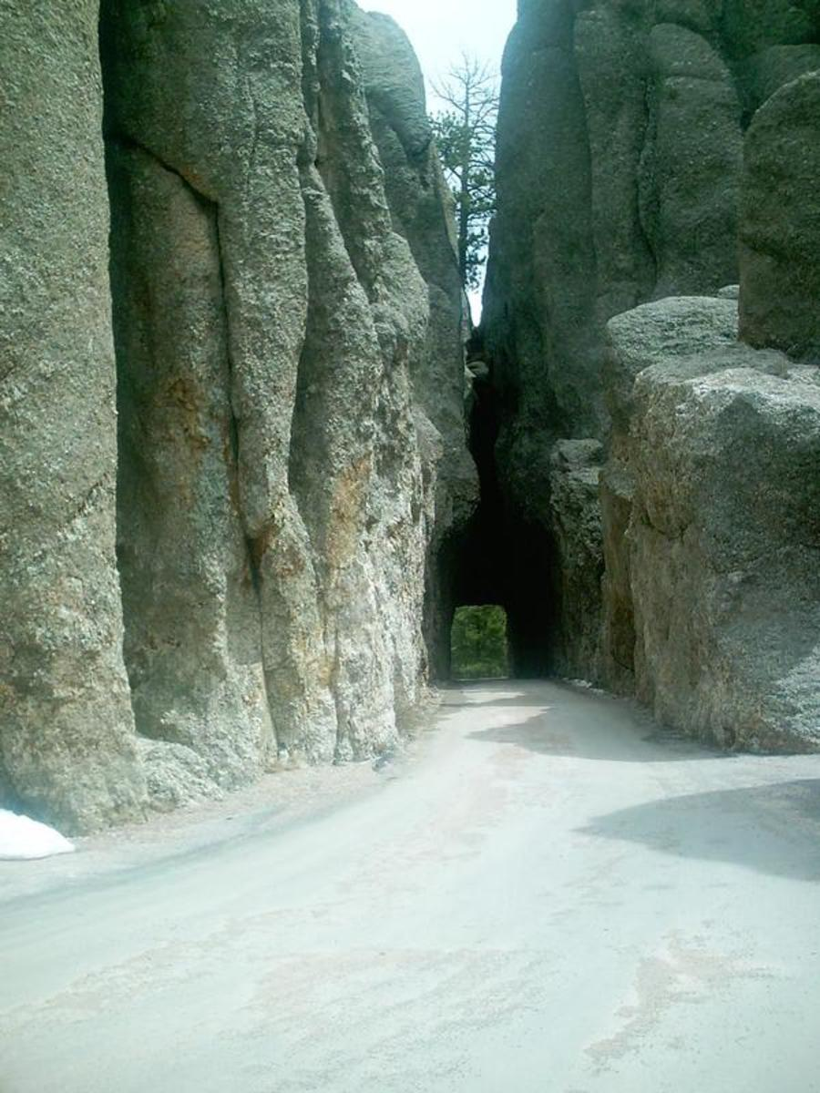 """The drive through spot in the rocks as you start into """"The Needles"""""""