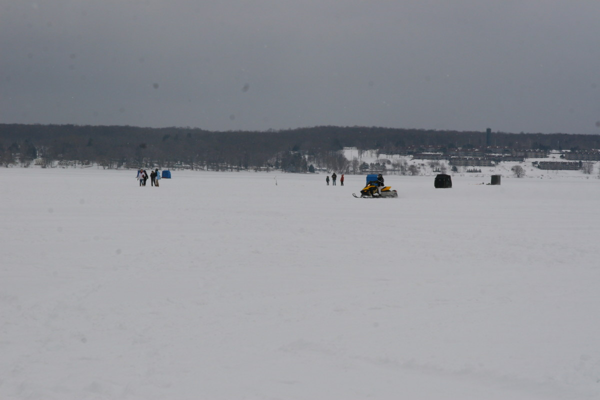 Ice fishing demonstrations at the Ice Castle Festival (weather permitting).