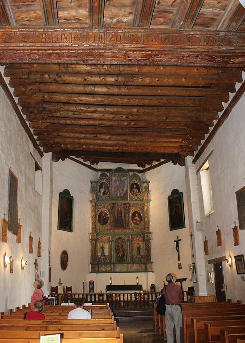 Santa Fe, NM USA - Altar (1798) of the Chapel of San Miguel