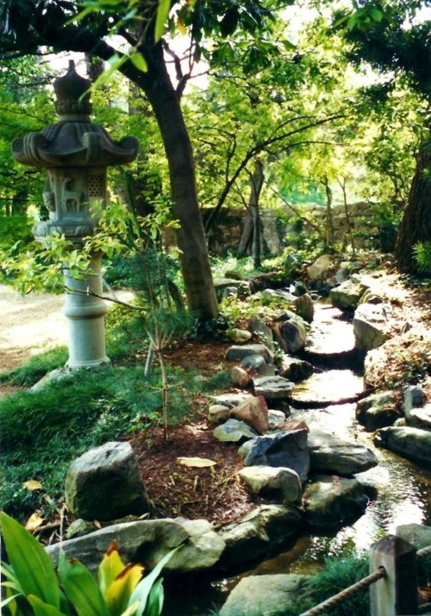 The Garden of Peace ~ Gift from Japan to the people of the U.S. ~ Grounds of the Nimitz Museum in Fredericksburg.