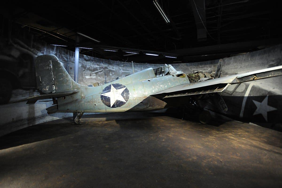 General Motors FM-2 Wildcat Fighter inside Nimitz Museum