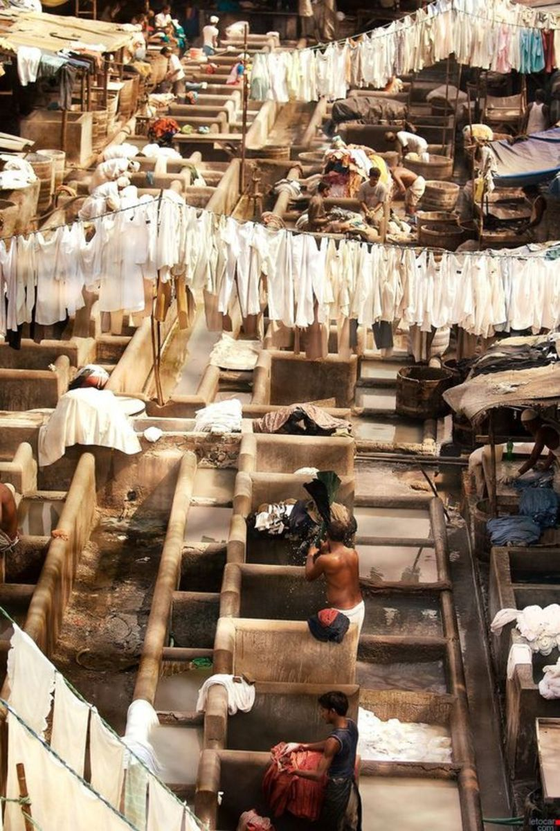 Dhobi Ghat in Mumbai, India