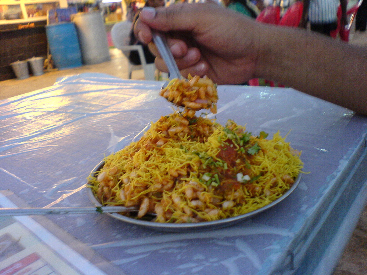Bhel Puri at Juhu Beach