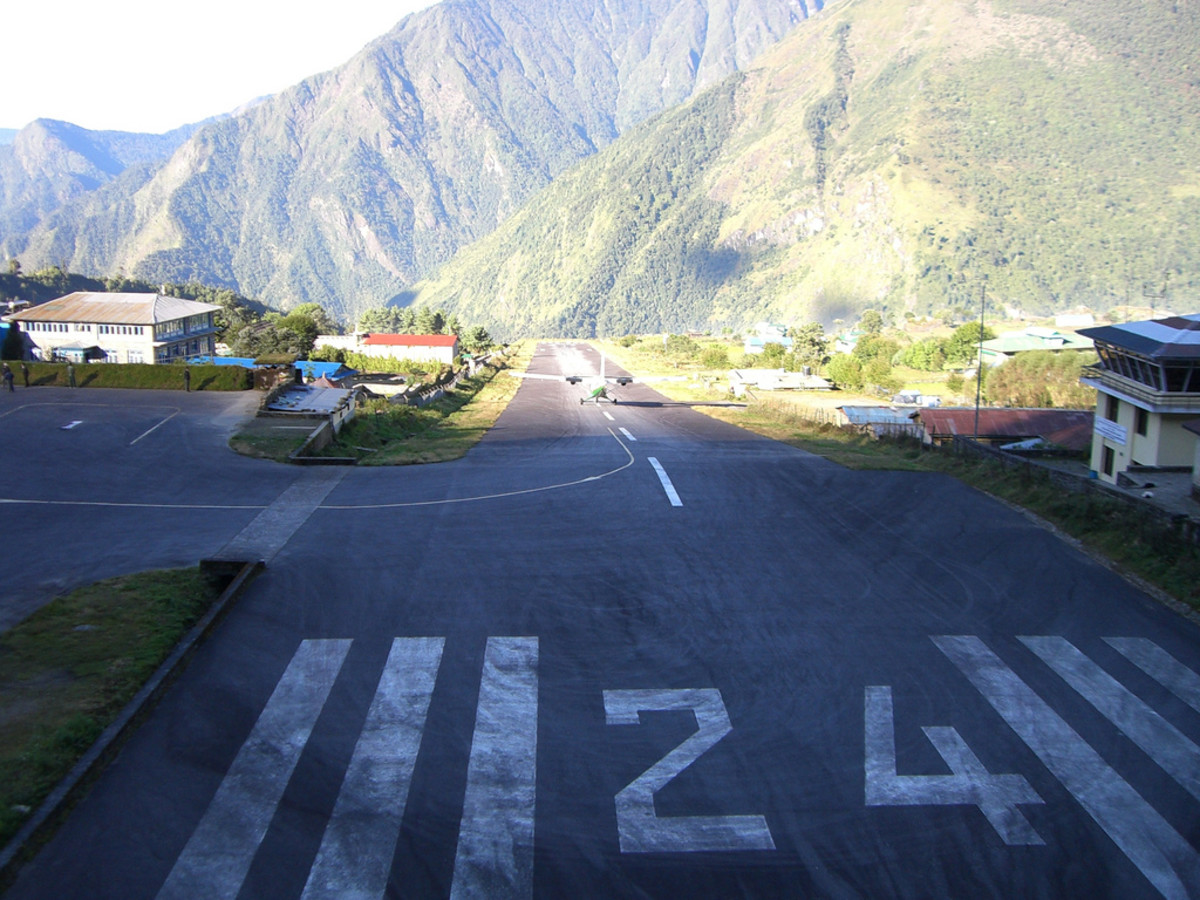 The runway at Tenzing-Hillary Airport