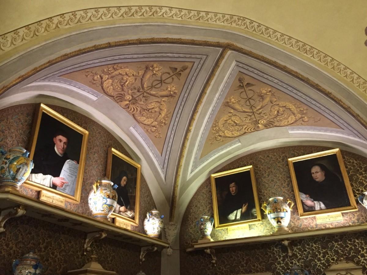 Frescos in the Profumo-Farmaceutica di Santa Maria Novella (c) A. Harrison