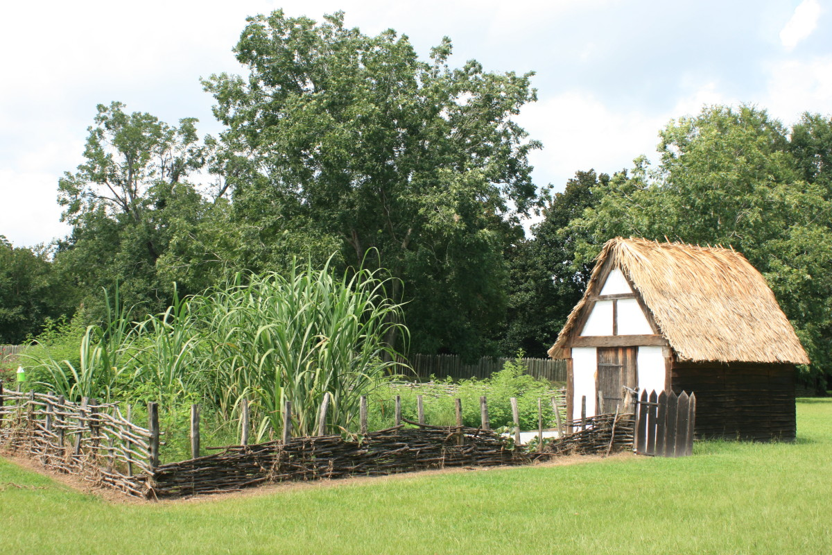 Replica Experimental Crop Garden at Charles Towne Landing