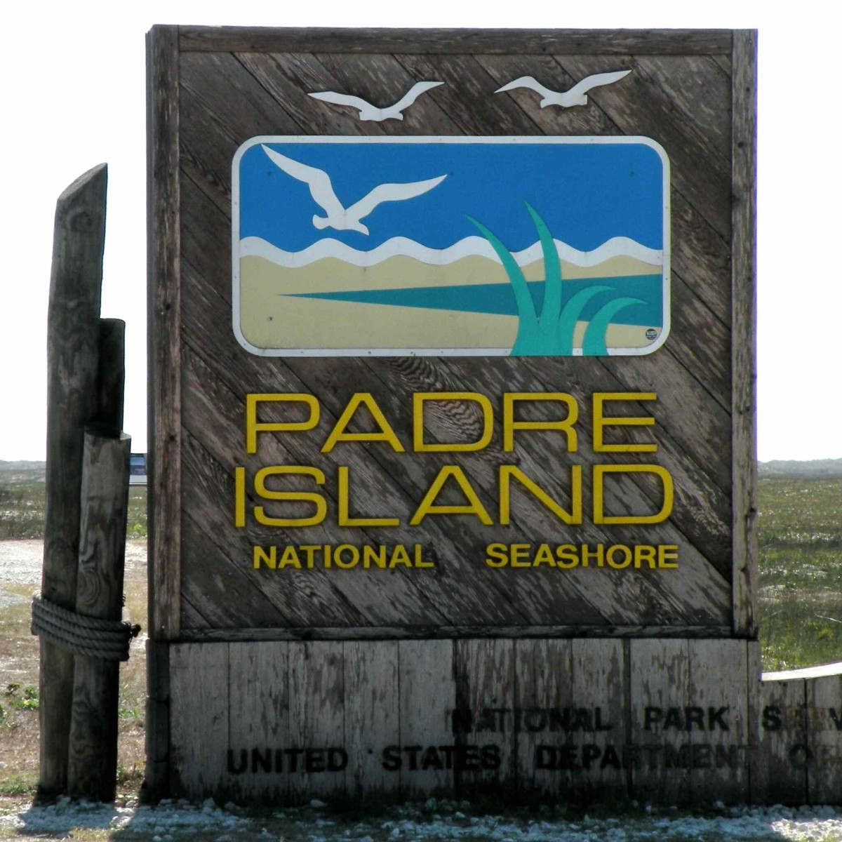 Entering Padre Island National Seashore on North Padre Island