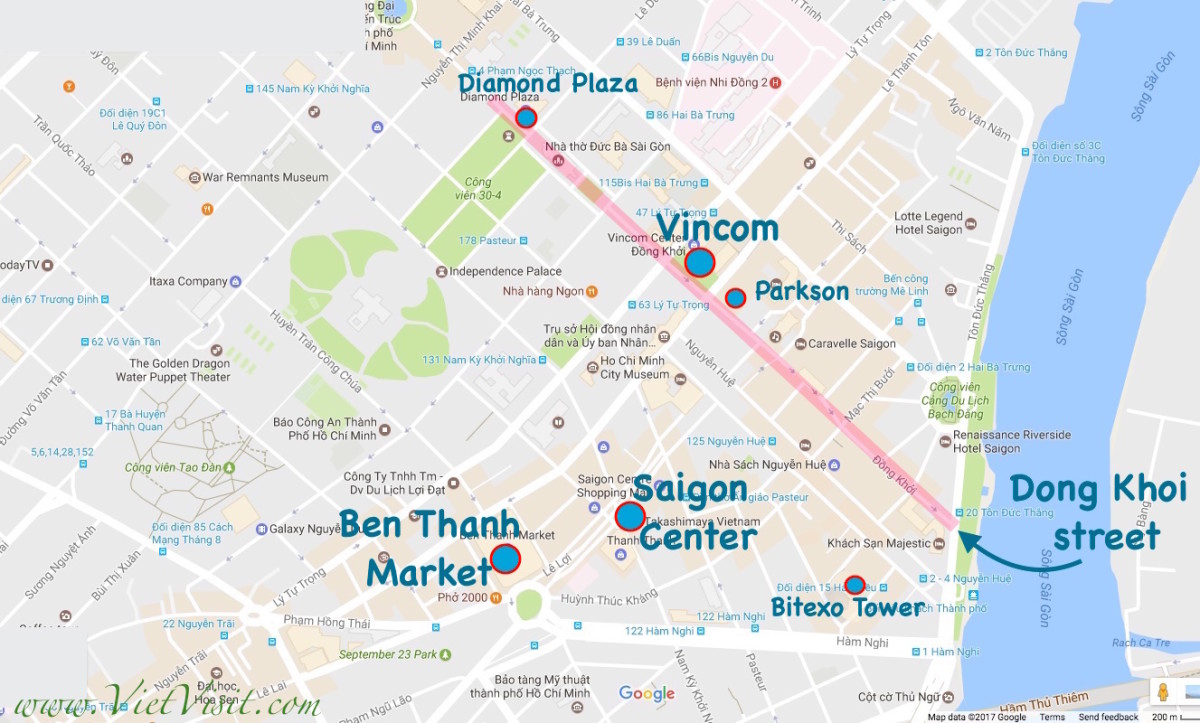 A shopping guide for tourists in Saigon (Ho Chi Minh City), the nest of Bến Thành Market.