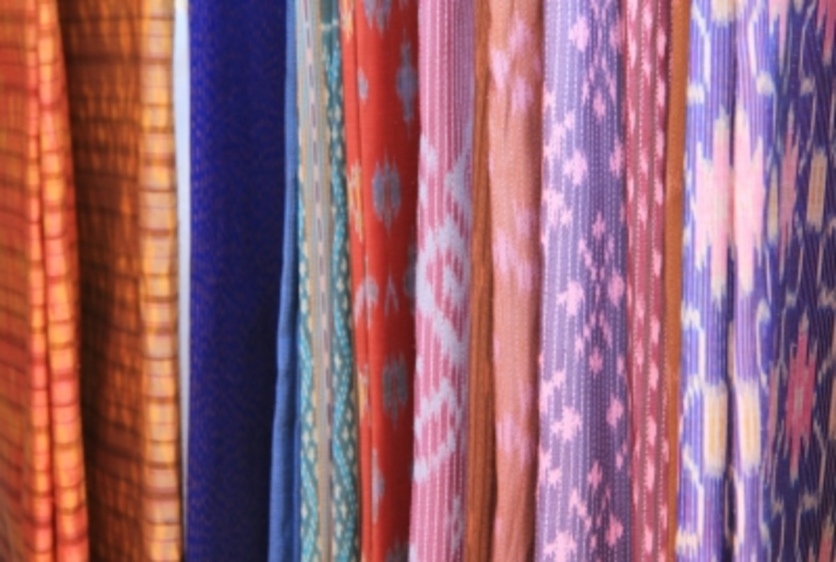 Thai silk scarves are among Thailand's popular trade products for local and foreign tourists.