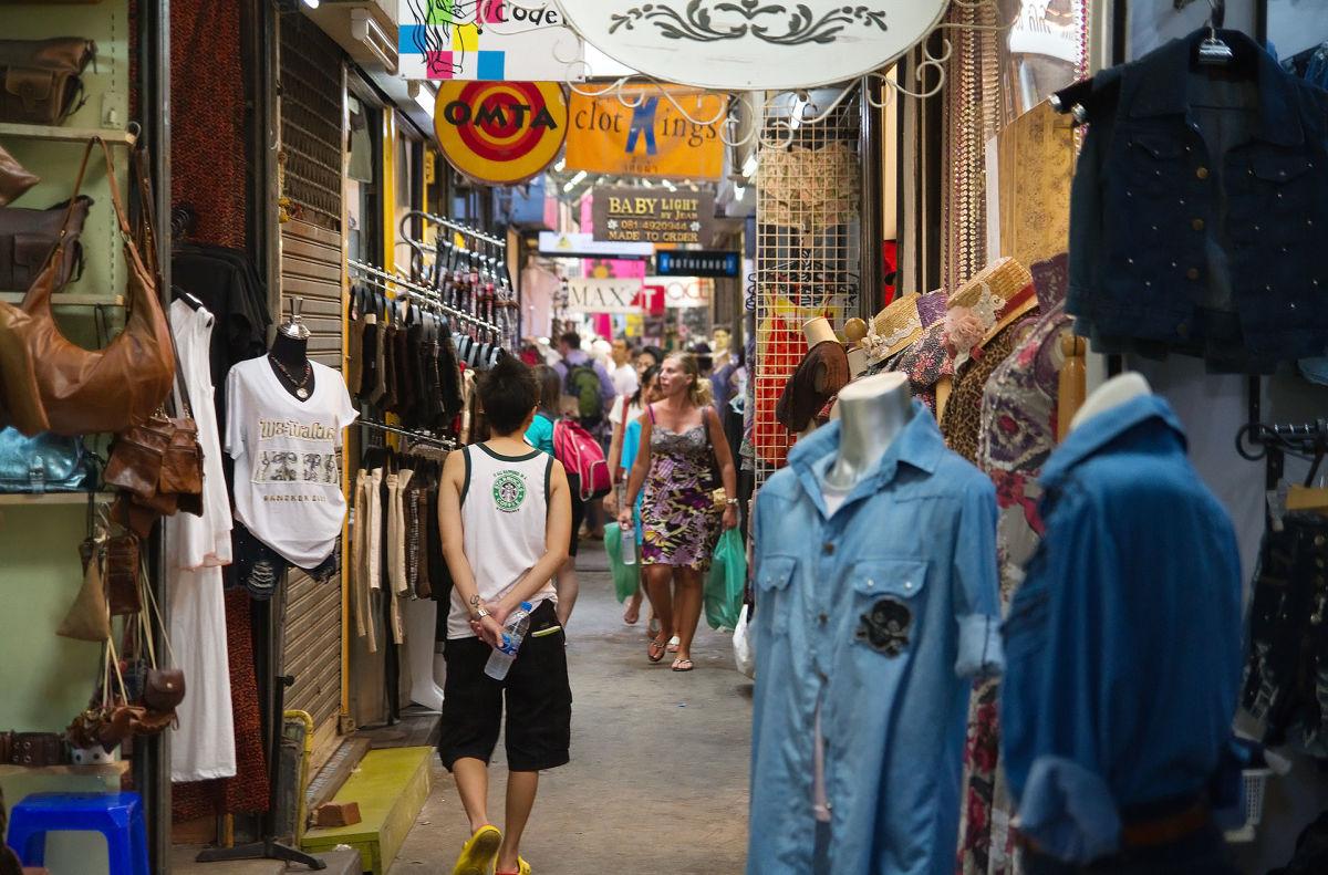 Chatuchak Weekend Market is a huge shopping center in Bangkok.
