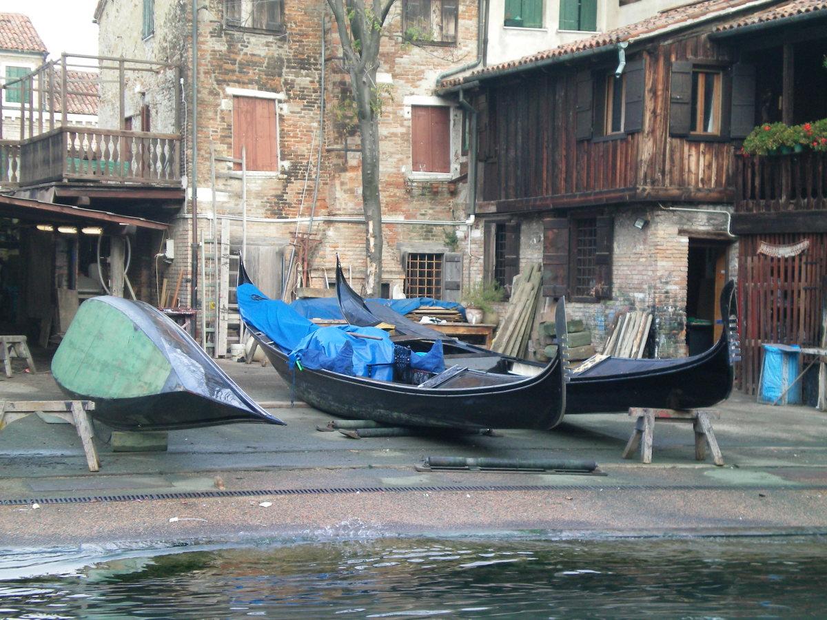 A gondola repair shop, Venice (c) A. Harrison