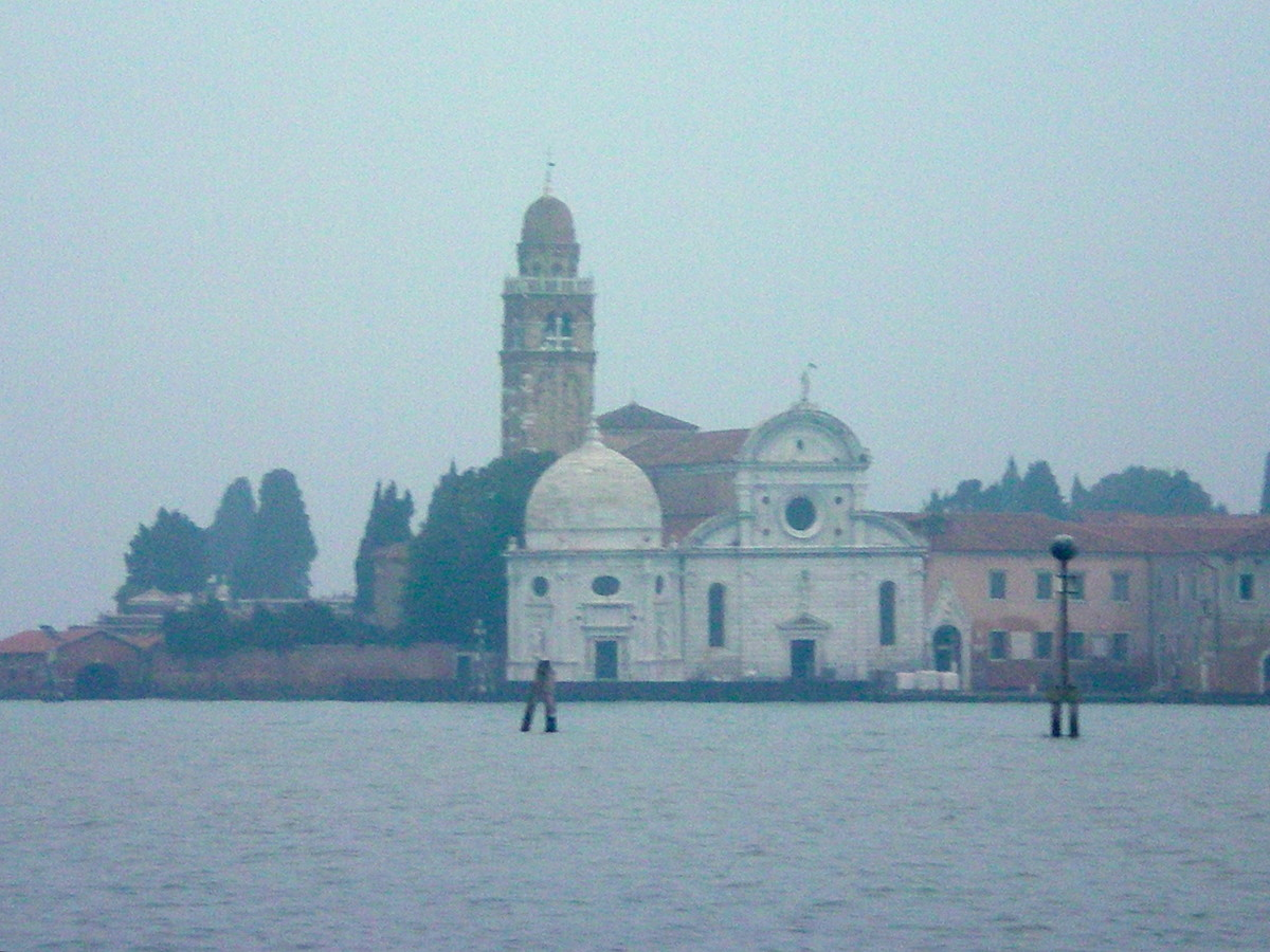 Looking across the lagoon towards the Chiesa Sante Maria della Zitella (c) A. Harrison