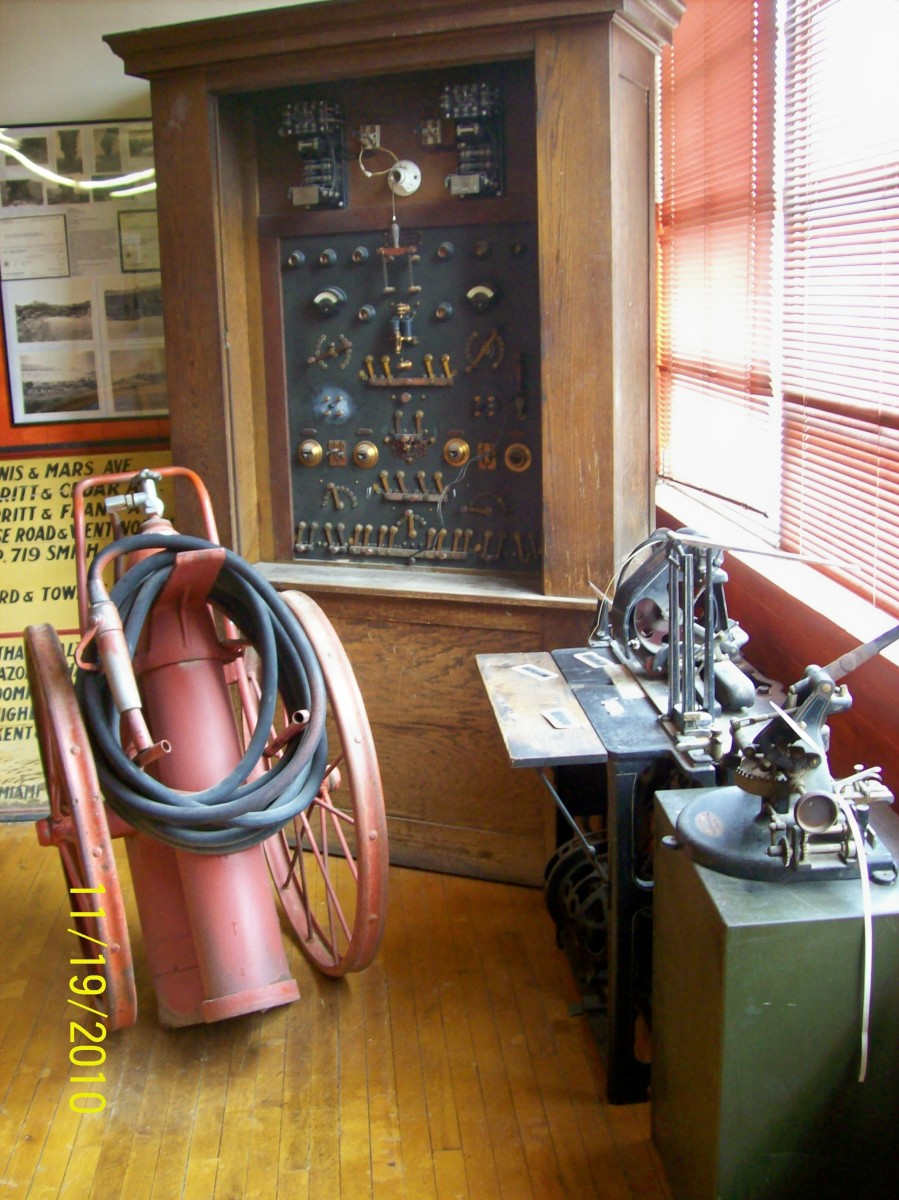 Late 19th century and early 20th century electrification brought about an electric fire signal system for faster fire response.