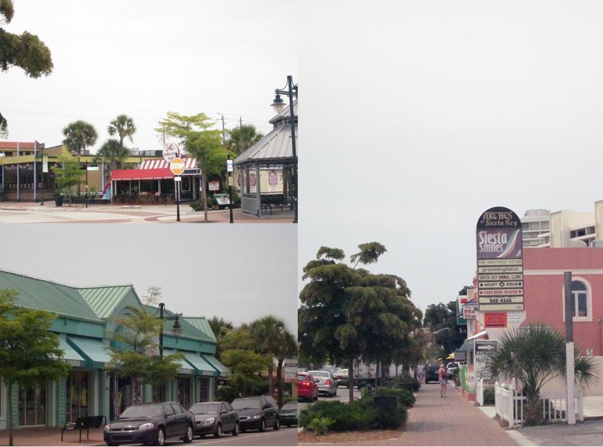 Scenes from Siesta Village on Siesta Key.
