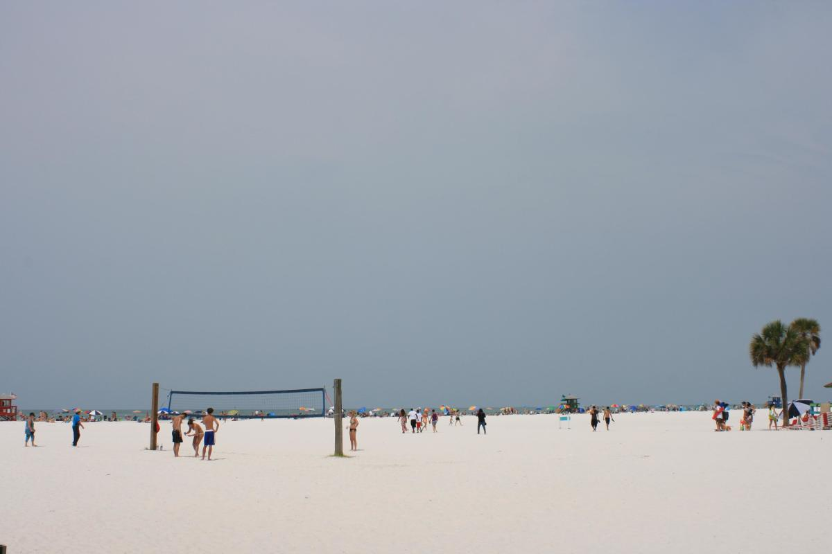 A game of beach volleyball is one of many ways to enjoy a day at this beach.