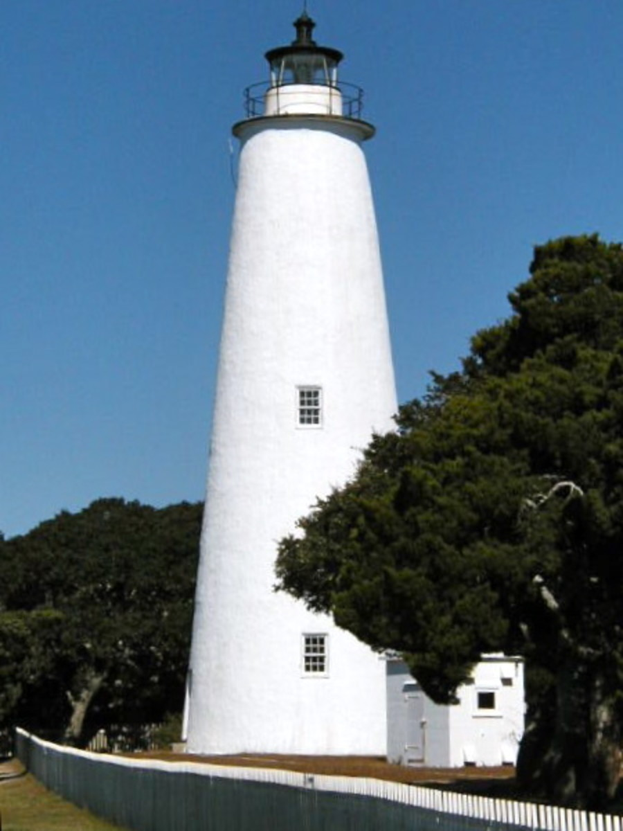 Ocracoke Lighthouse on the Outer Banks.