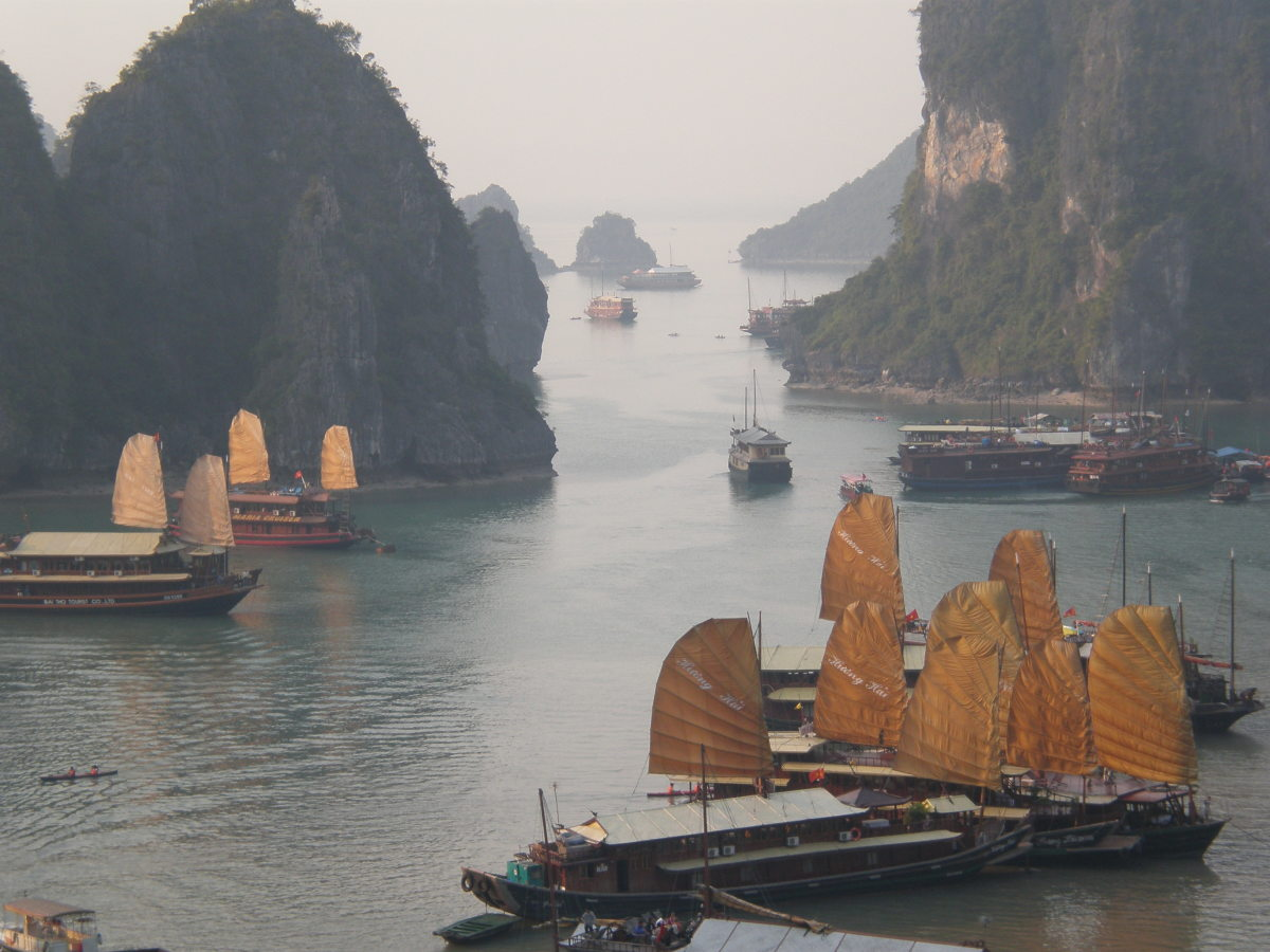 "UNESCO World Heritage Site ""Halong Bay"" in North Vietnam."