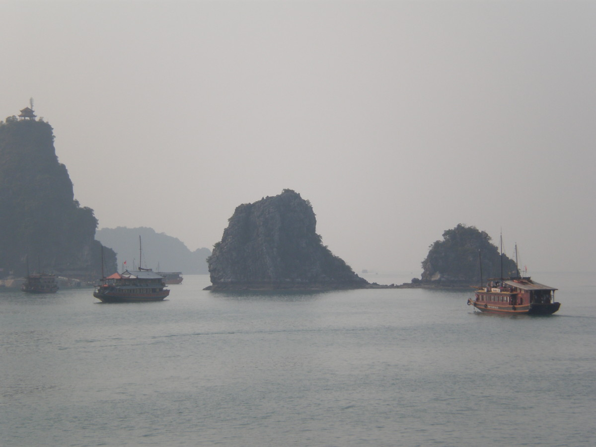 Halong Bay's Multiple Islands.