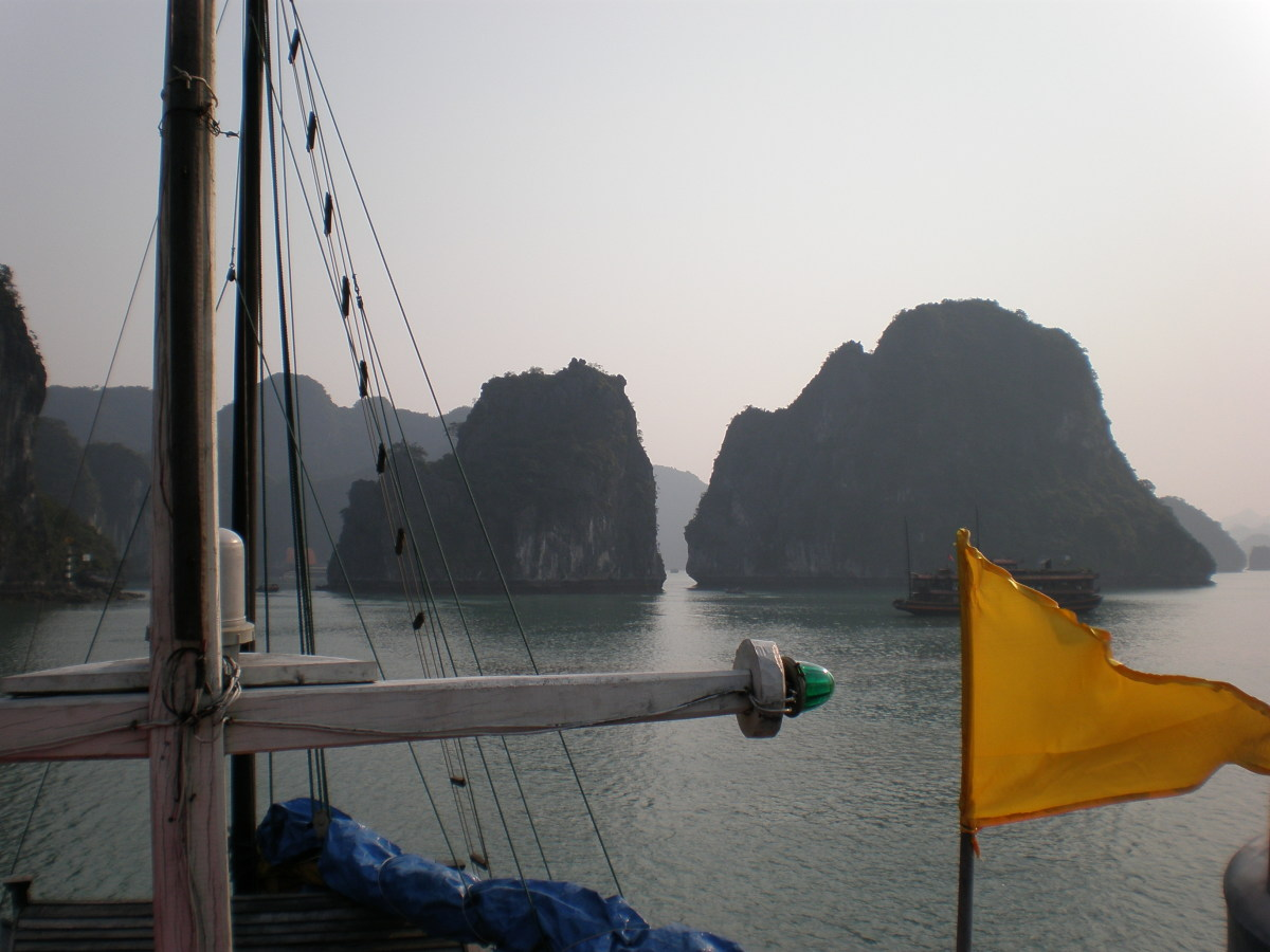 View of Halong Bay from the Boat's Deck.