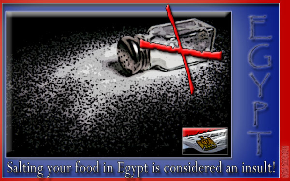 Re-think using salt when traveling to Egypt