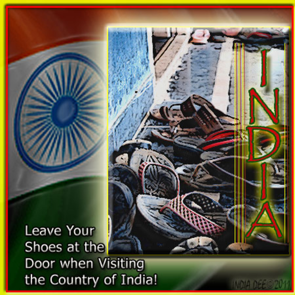 Flag of India - Respect the home by removing shoes