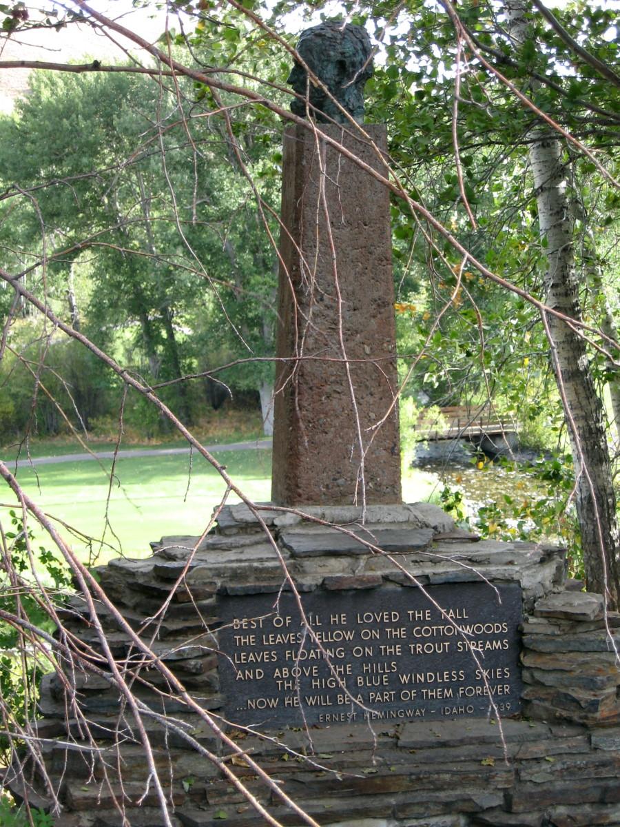 Ernest Hemingway memorial in Sun Valley near Ketchum.
