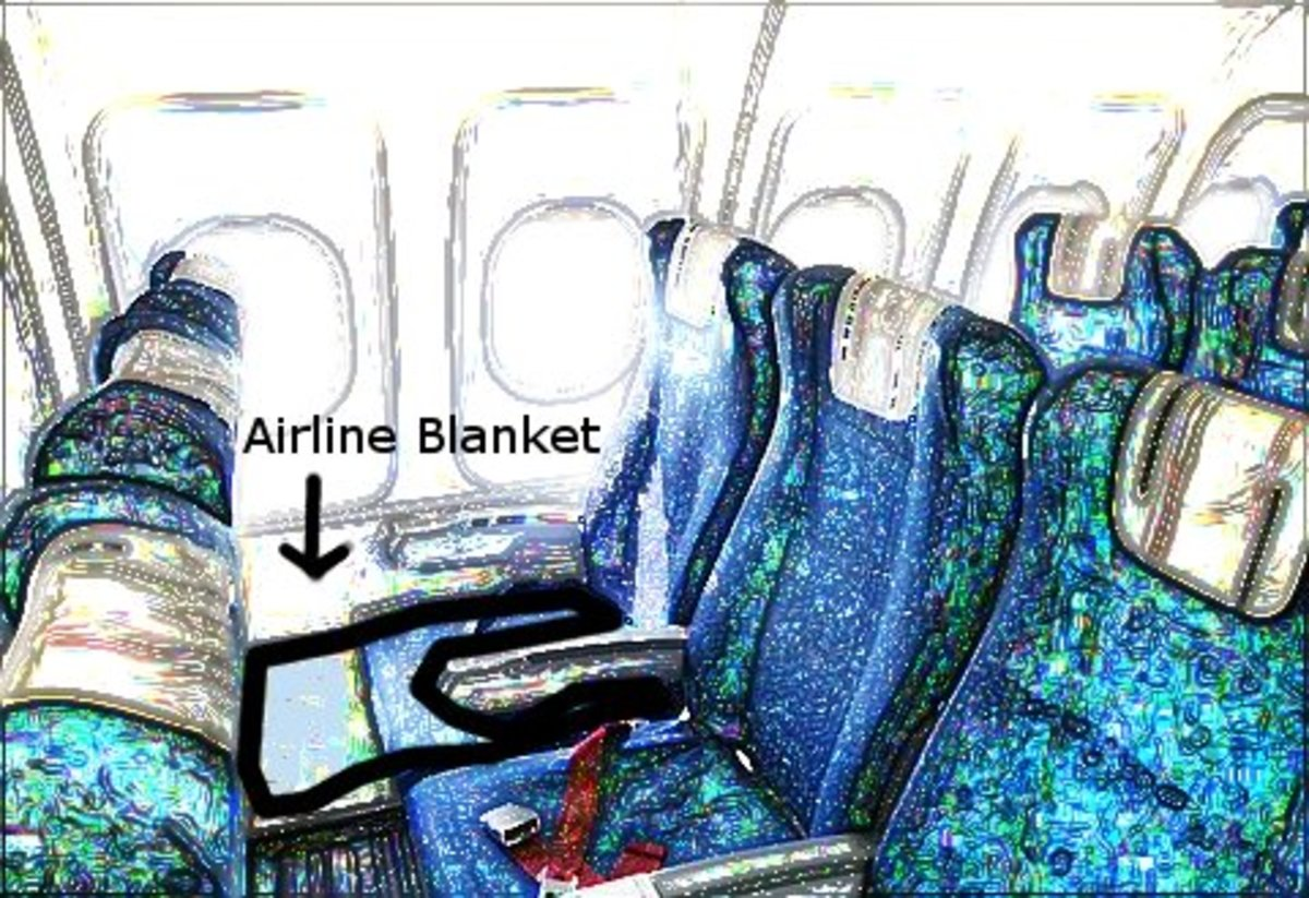 Use An Airline Blanket To Create A Sling Under The Childs Car Seat