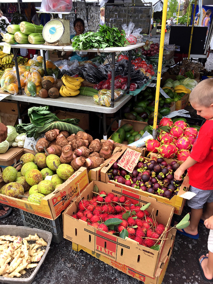 Exotic Fruits and Veggies at the Maku'u Farmers' Market