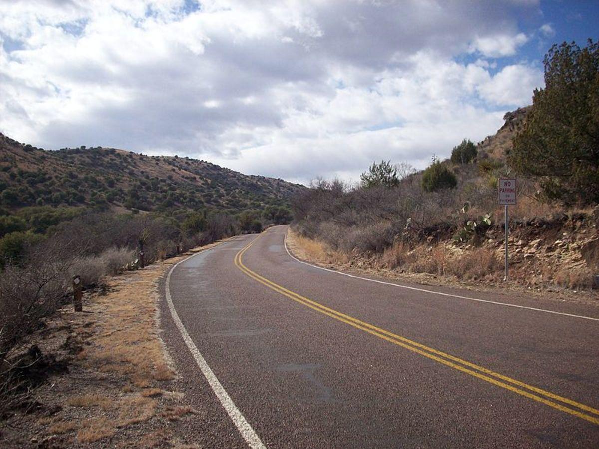 Park Road 3 in Davis Mountains State Park near Fort Davis, Texas