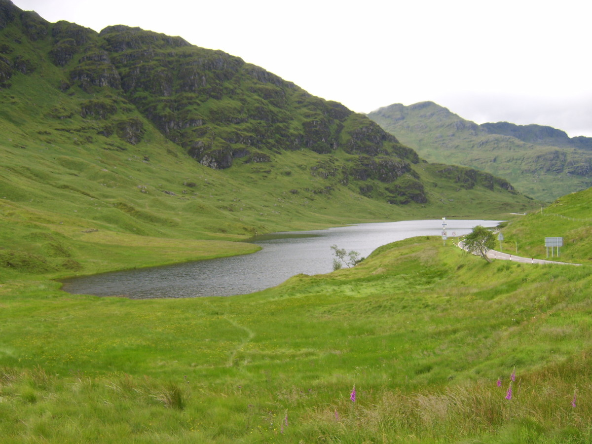 Looking north from the Rest and Be Thankful, across the waters of Loch Restil