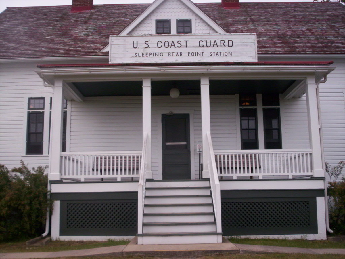 Sleeping Bear Point Coast Guard Station - No longer in use.