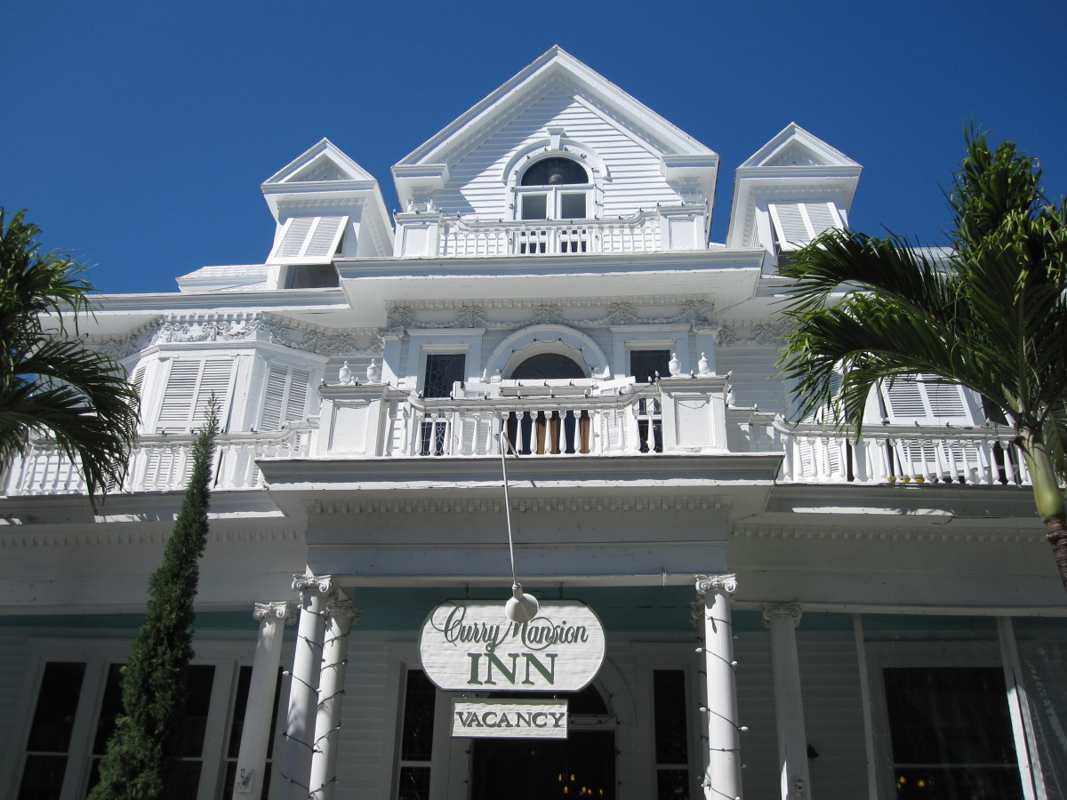 One of Key West's historic Old Town mansions