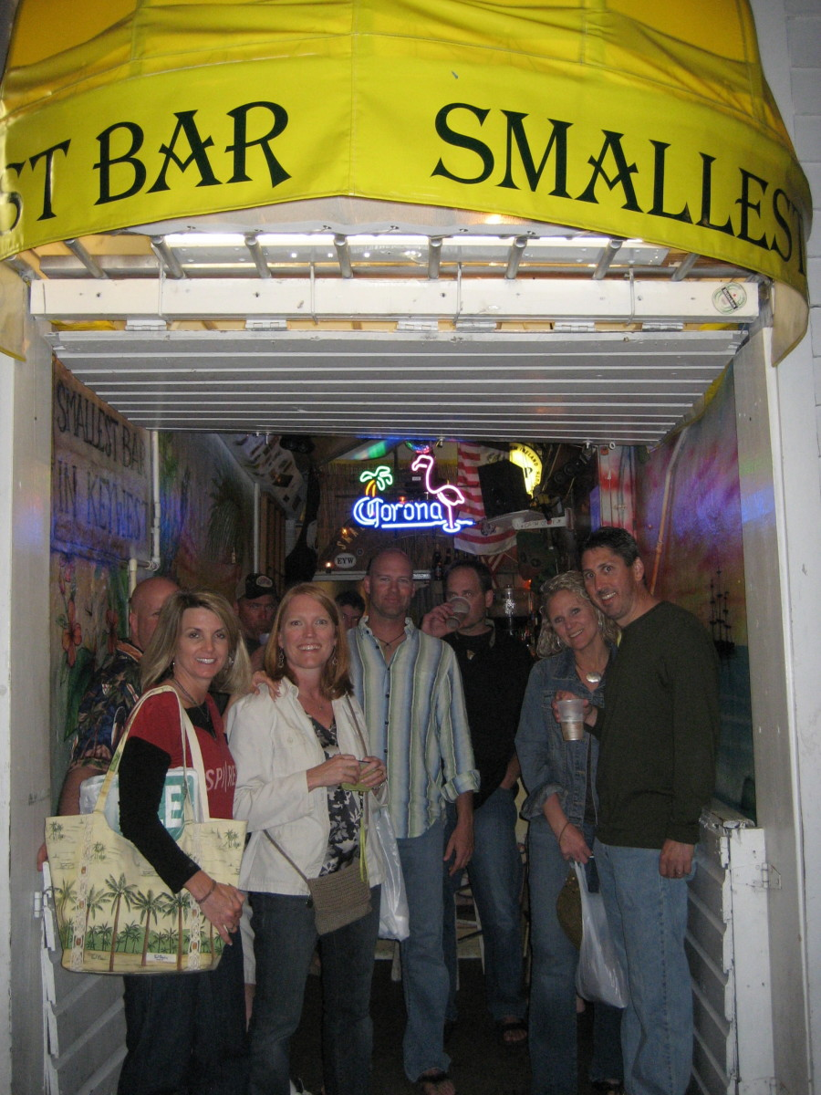 How many friends can you squeeze into the World's Smallest Bar on Duval Street?