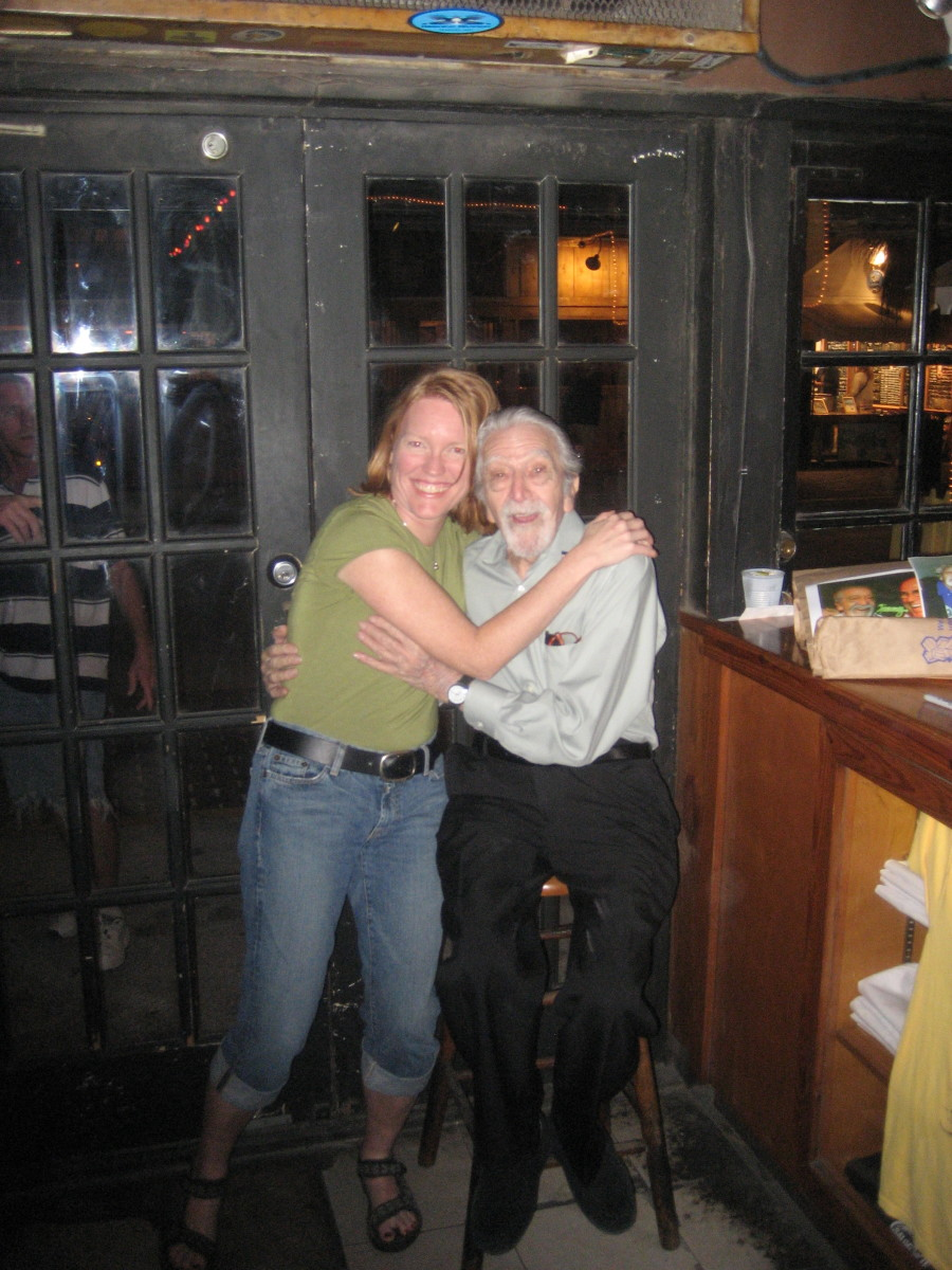 The author with Captain Tony just a few months before his death in 2008