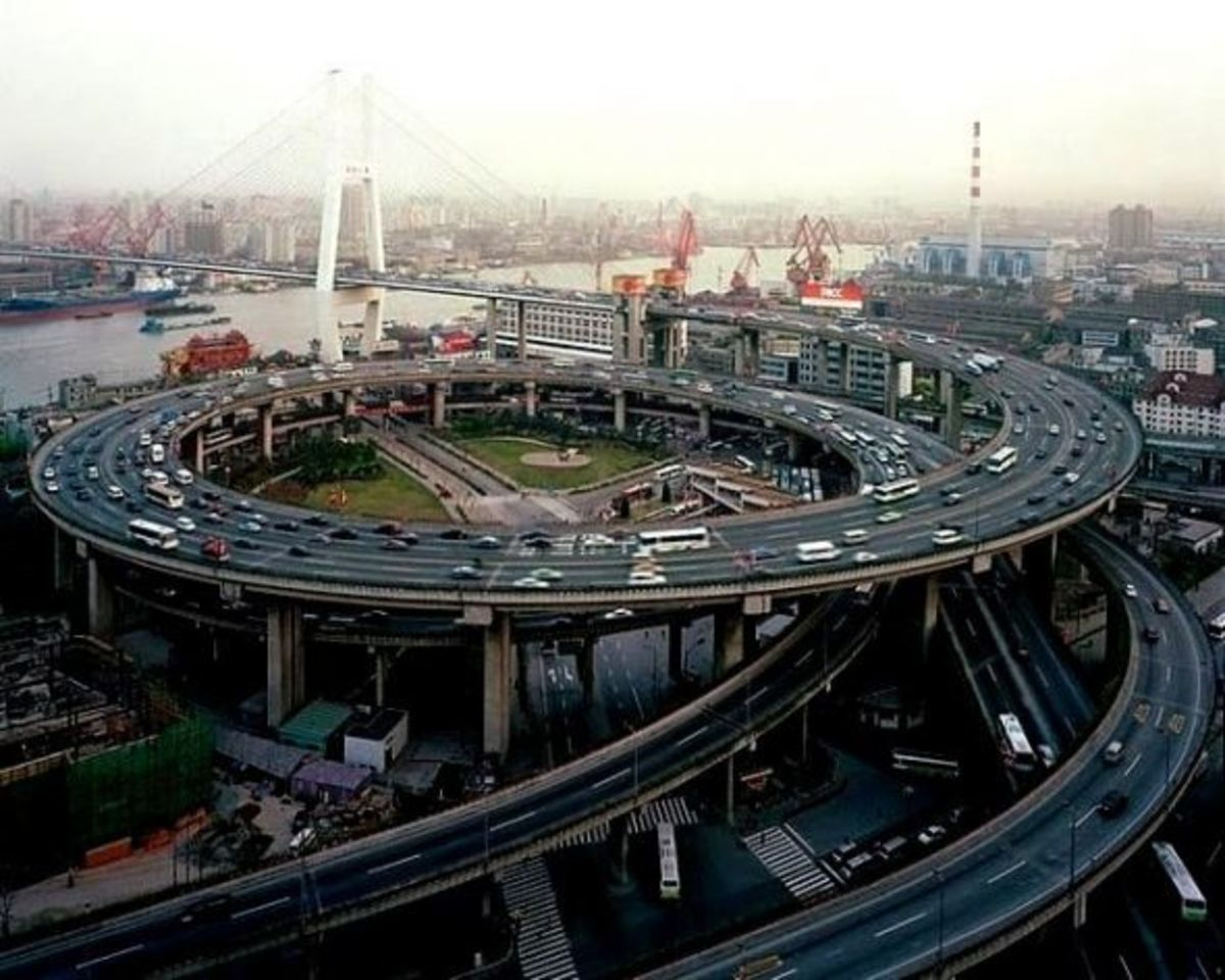 Shanghai Intersection Spiral